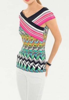 Carmen shirt, multicolour