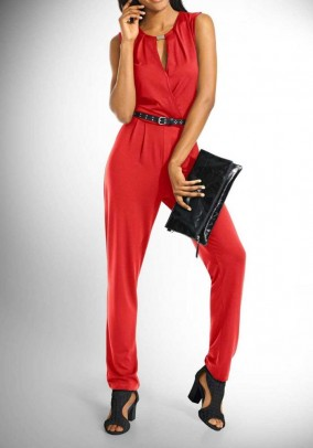 Jumpsuit, red