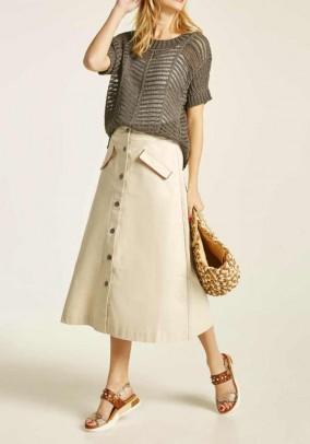 Smėlinis midi sijonas