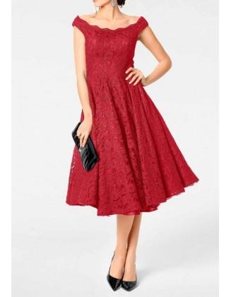 """Raudona kokteilinė suknelė """"Petit"""""""