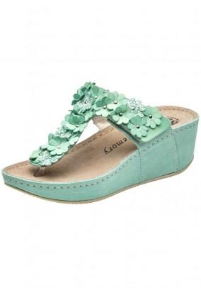Leather slipper, mint