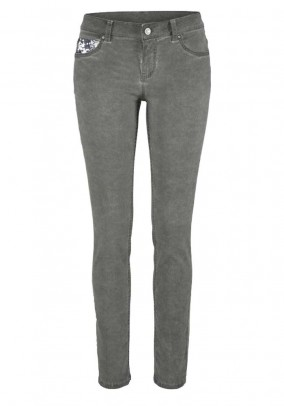 Slim fit jeans, grey-used