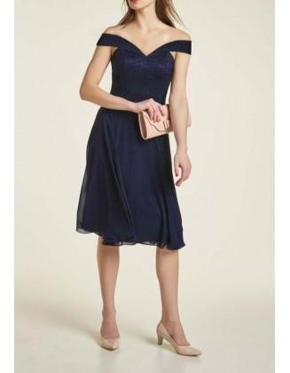 "Mėlyna puošni suknelė ""Corsage"""