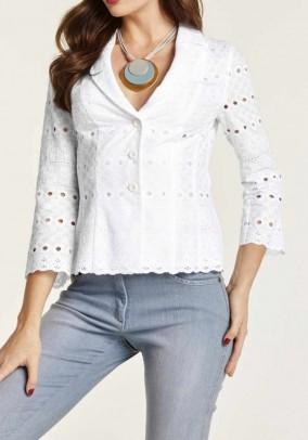 Embroidery blazer, white