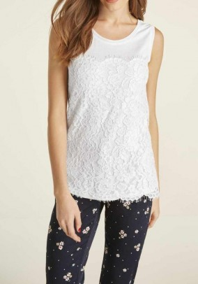 Lace top, white