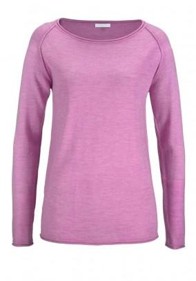 Rožinis merino vilnos megztinis
