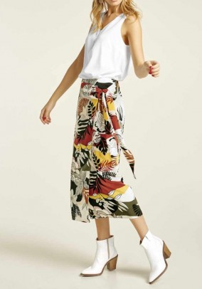 Margas midi ilgio sijonas