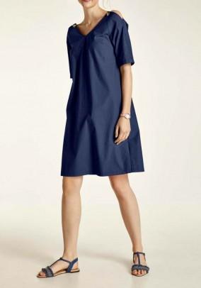 Mėlyna laisvo stiliaus suknelė
