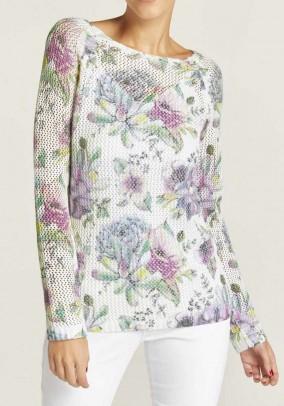 Pastelinis korėtas megztinis