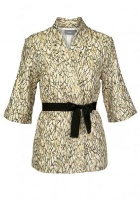 Kimono stiliaus auksinis švarkas