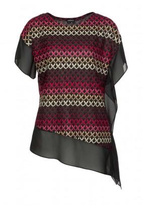 Lace tunic, black-multicolour