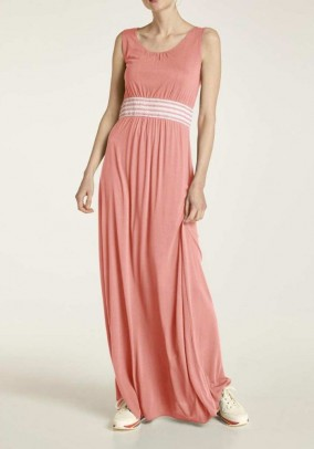 Jersey maxi dress, peach