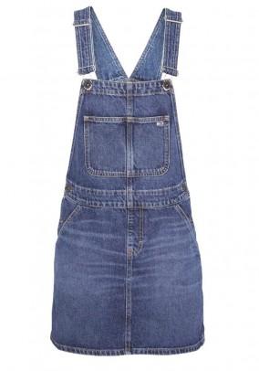 Denim flap dress. blue