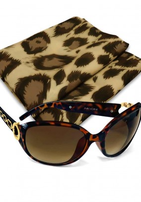 Sunglasses with scarf, leo pattern