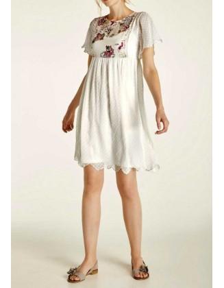 """Šviesi siuvinėta suknelė """"Corni"""""""