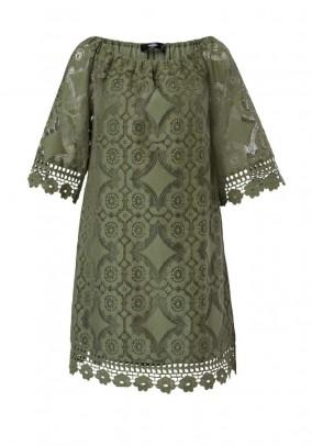 Žalia nėriniuota HALLHUBER suknelė