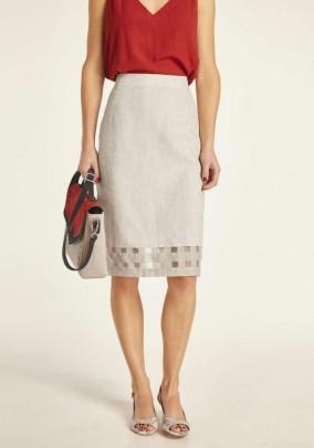 Smėlinis lininis sijonas