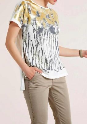 Print shirt, ecru-multicolour