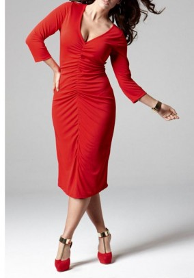 Raudona ryški suknelė. Liko 50 dydis