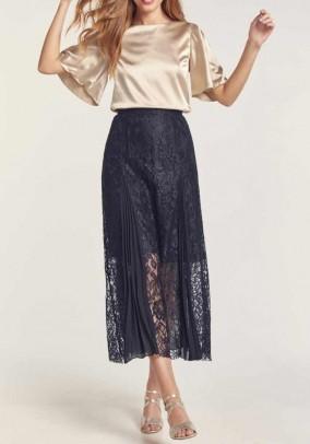 Nėriniuotas midi sijonas