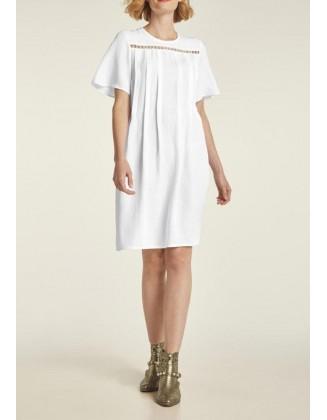 """Balta lininė suknelė """"Perla"""""""