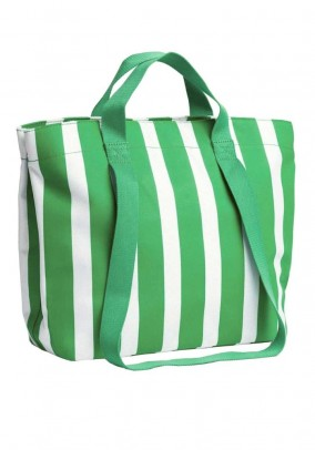 Shopper, white-green