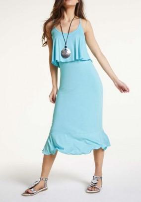 Turkio spalvos vasarinė suknelė