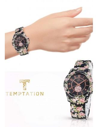 Gėlėtas Temptation laikrodis