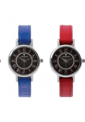 Laikrodis su šešių spalvų apyrankėmis