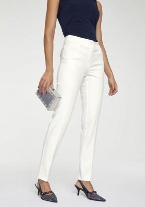 Baltos elegantiškos kelnės