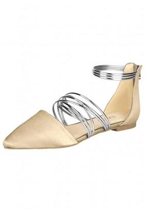Ballerina shoe, nude-silver