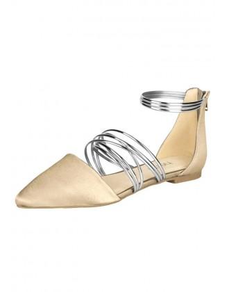 Smėliniai balerina bateliai