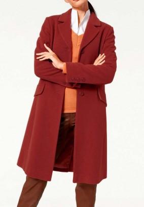 """Vilnos ir kašmyro paltas """"Terracotta"""". Liko 48 dydis"""