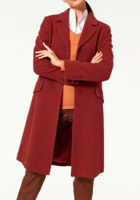 "Vilnos ir kašmyro paltas ""Terracotta"""