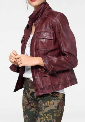 Leather jacket, bordeaux