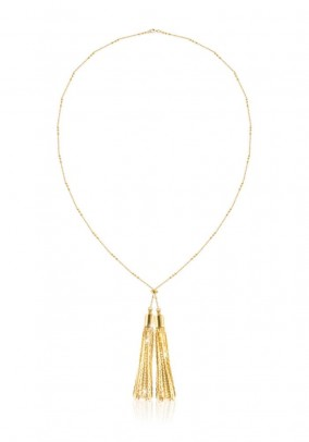 Necklace with tassle, gold coloured