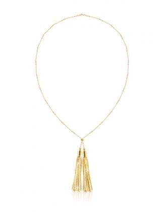 Aukso spalvos kaklo papuošalas