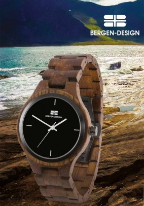 Rudas Bergen-Design laikrodis