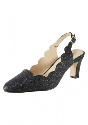 Sling pumps, black