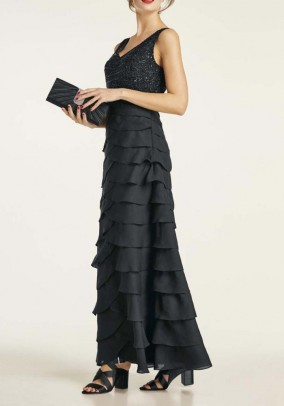 Evening gown with beads, black