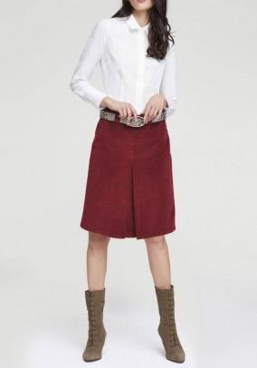 Corduroy skirt, dark red