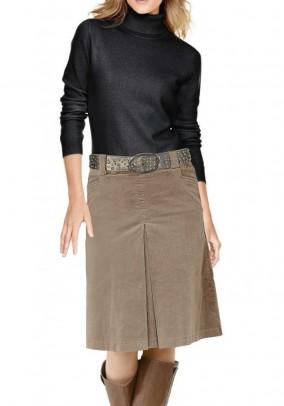Rudas velvetinis sijonas