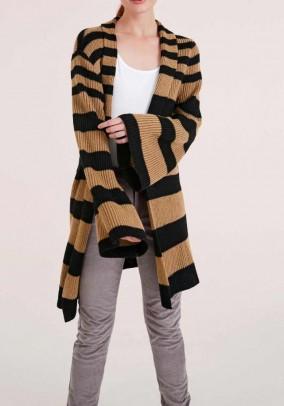 """Ilgas vilnonis dryžuotas megztinis """"Camel"""""""