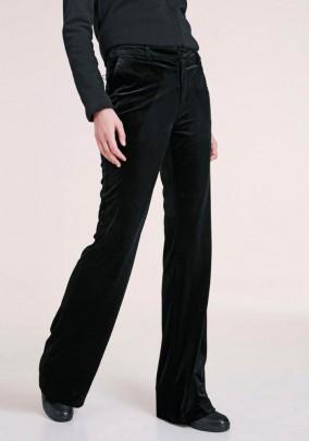 Juodos aksominės kelnės
