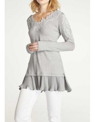 """Pilkas megztinis """"Melange"""""""