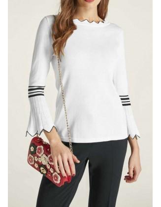 """Baltas megztinis """"Elegant"""""""