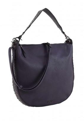 Bag with rivets, dark purple
