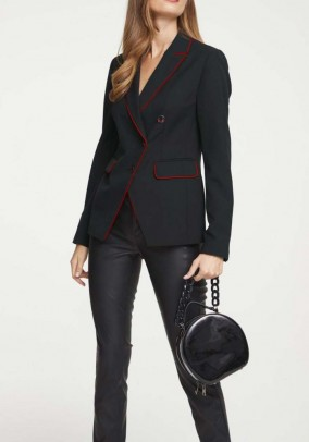 Blazer, black and red