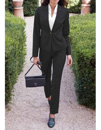 Juodas vilnos kostiumas (iki 1.65m ūgiui)