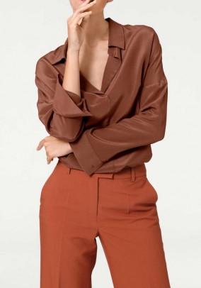 Silk blouse, rust